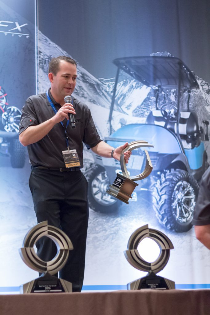 Nivel's President of Specialty Vehicles, Brent Moore, welcomed the crowd and spoke about the future