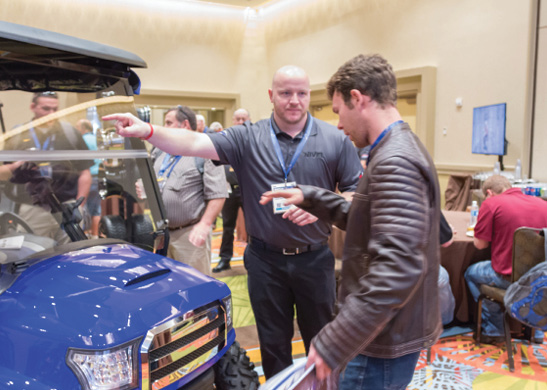 Cody Baggett (left), Nivel's Research & Development Manager, offered details on the new Alpha Of